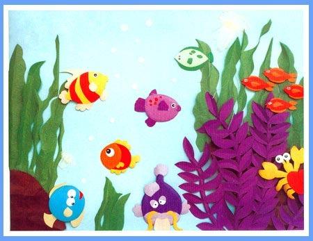 幼儿园大班美术教案:美丽的海洋世界