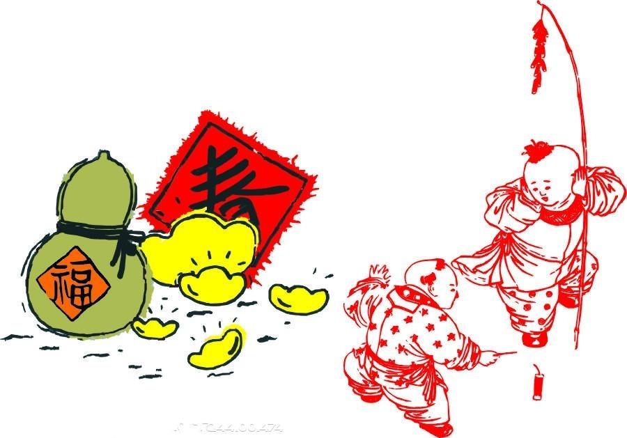 嘭——上天了,啪——开花了.小动物们真快乐!大家一起过新年!