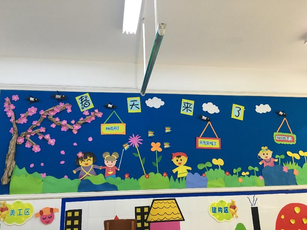 春天里的故事__幼儿园季节主题墙环境创设_幼儿园主题