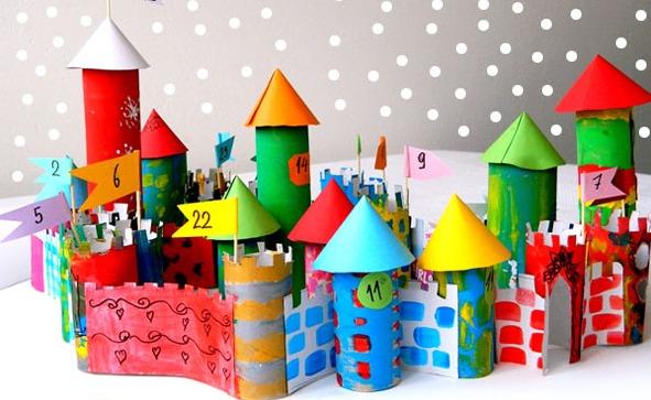 你的喵星人是独一无二的 没想到这么精美的大城堡也是用手纸筒做成的