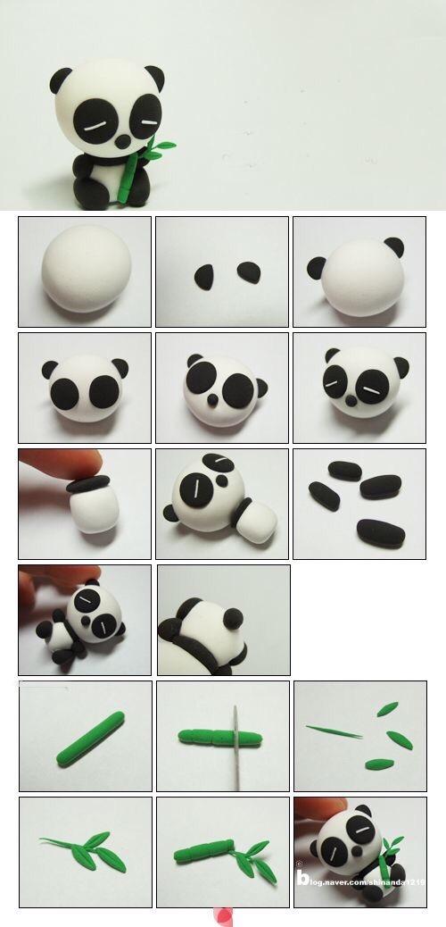 熊猫_幼儿园泥工玩教具_幼儿园玩教具