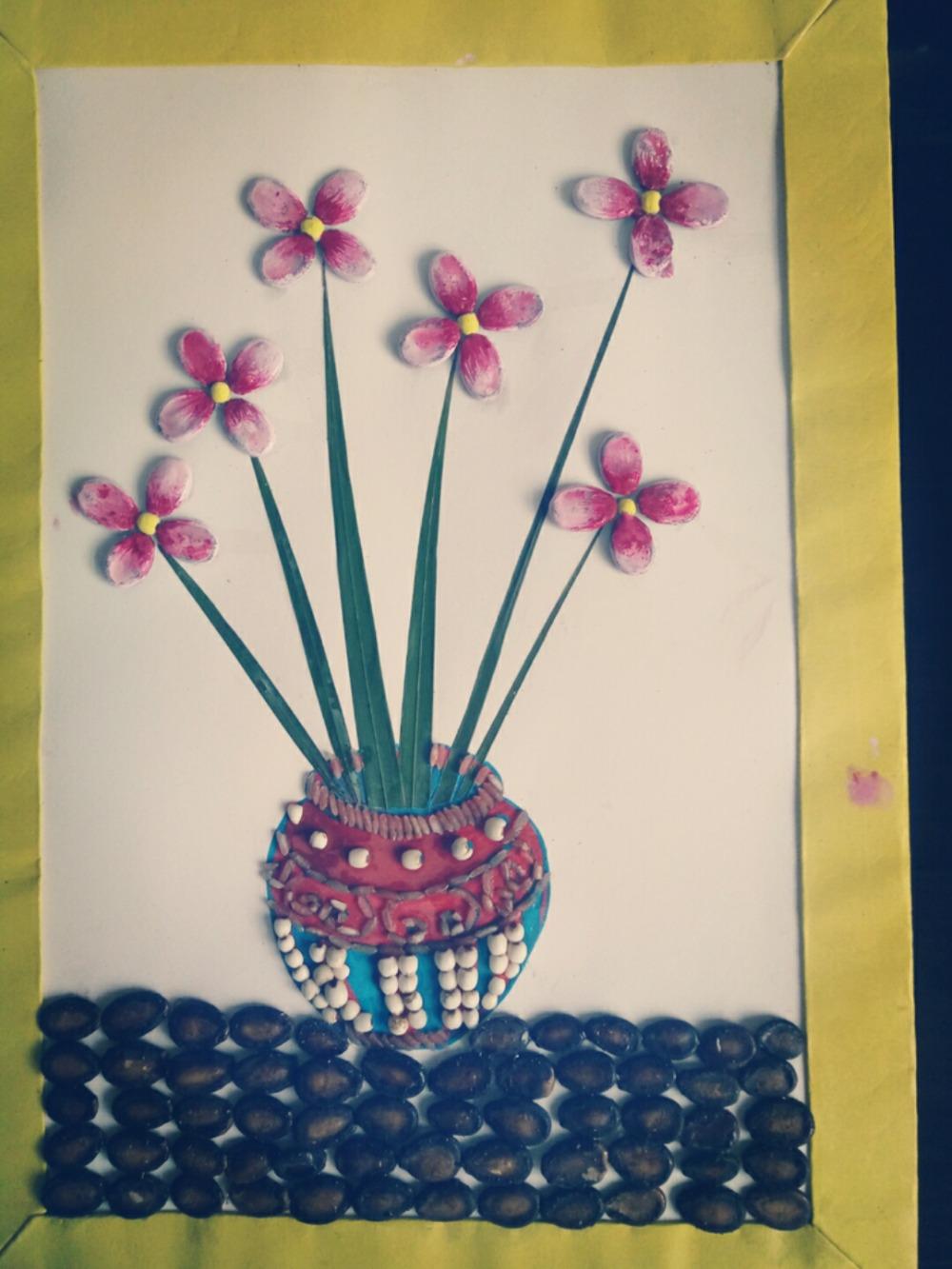 果壳贴画---《花儿朵朵》