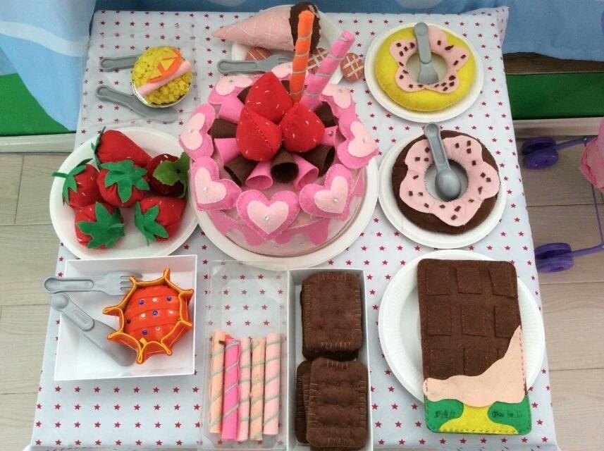 娃娃家粘土蛋糕手工制作